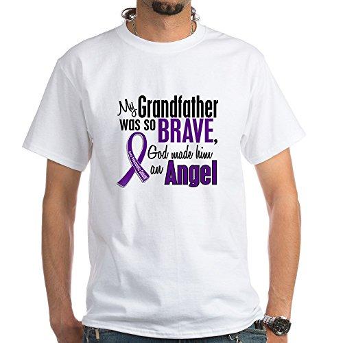 Angel Pancreatic Cancer T-shirts (CafePress Angel 1 Pancreatic Cancer White T-Shirt - 100% Cotton T-Shirt, White)
