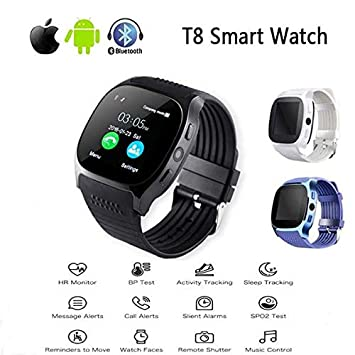 Générique KAIFAGAO Montre connectée Bluetooth T8 décontractée Prend en Charge la Mode Carte SIM TF avec