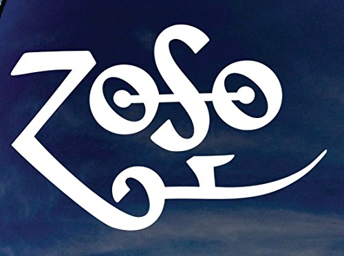 LED ZEPPELIN ROCK BAND ZOFO LOGO STICKER SYMBOL 5.5' DECORATIVE DIE CUT DECAL Rock n Roll - WHITE