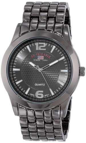 Polo Gunmetal Case Watch (U.S. Polo Assn. Classic Men's US8438 Black Dial Gun Metal Bracelet Watch)