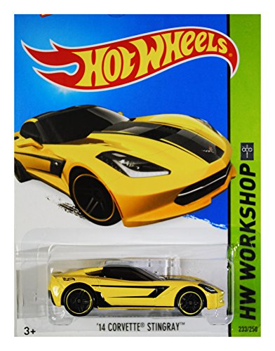 (Hot Wheels 2015 HW Workshop '14 Corvette Stingray 233/250, Yellow)