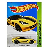 Hot Wheels 2015 HW Workshop '14 Corvette Stingray 233/250, Long Card by Mattel