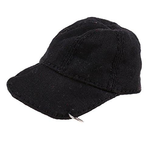 Fityle 1/6 Scale Women Baseball Hat Female Cap for 12 inch Phicen Figure Doll Black