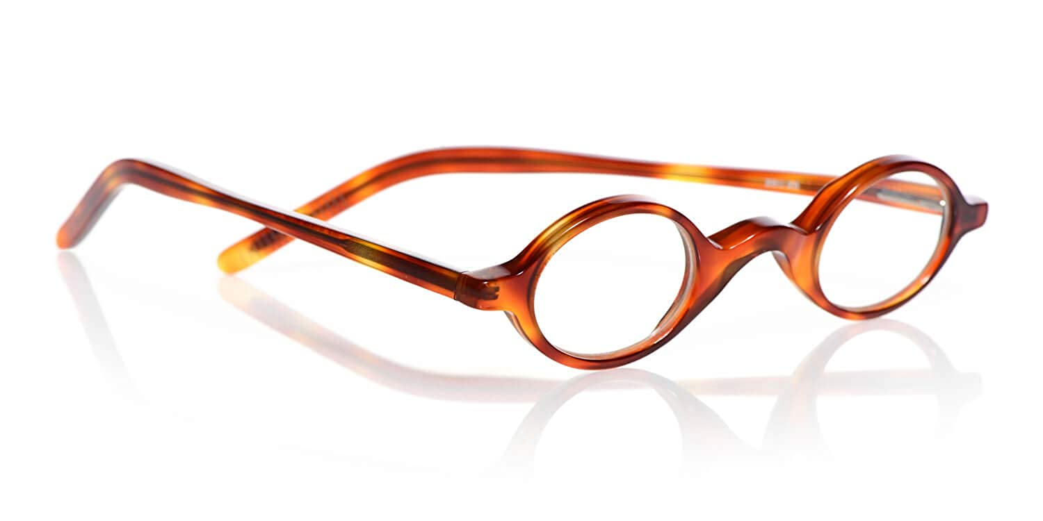 Orange Tortoise 2.25 Magnification eyebobs Old Money Unisex Premium Reading Glasses