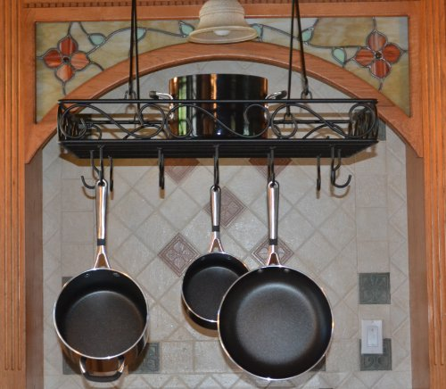 JOHNSON & JOHNSON Wire Pot and Pan Rack, Black