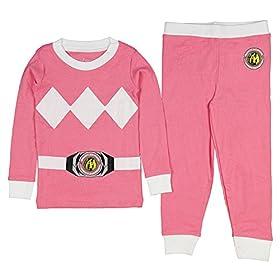 - 51KiFRA6ZCL - Kids Mighty Morphin Power Rangers Costume Pajama Set