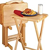Winsome Wood Alex Snack Table Natural Set 5 Pc