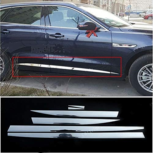 Stainless Chrome Side Door Body Molding Trim 6pcs for Jaguar F-Pace X761 2016-19