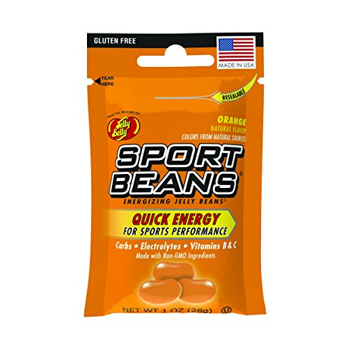 Orange Sport Beans - Jelly Belly Sport Beans, Energizing Jelly Beans, Orange Flavor, 24 Pack, 1-oz Each