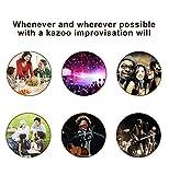 Kazoo Silver Aluminum Alloy with Five Membrane