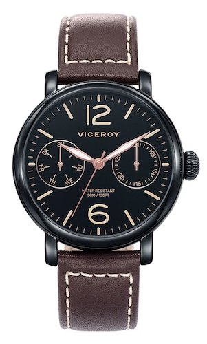 Viceroy Reloj Multiesfera para Hombre de Cuarzo con Correa en Cuero 471047-55: Amazon.es: Relojes
