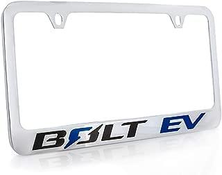 product image for Chevrolet Bolt EV Wordmark Chrome Plated Metal License Plate Frame Holder