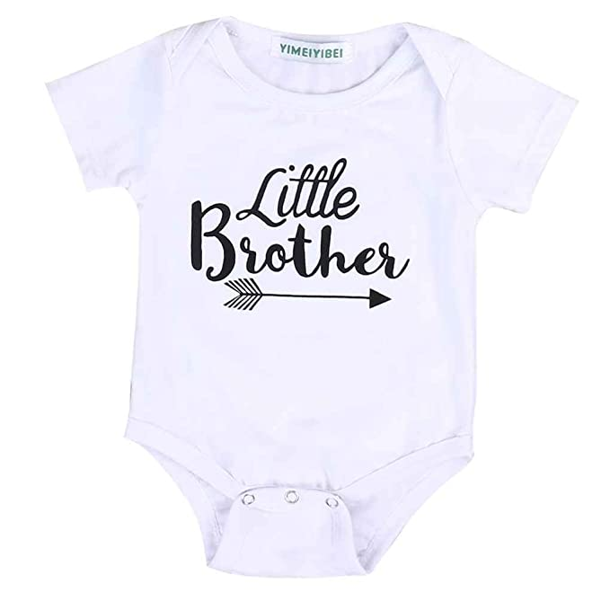 Family Set Newborn Baby Big Sister Little Brother Romper Bodysuit T-shirt Clothing, Shoes & Accessories