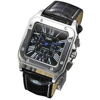 wholesale dealer a2f14 65006 ・メンズ腕時計 スクエアフェイス 自動巻きクロノグラフ腕時計 メンズ 全針稼動の本格仕様!!