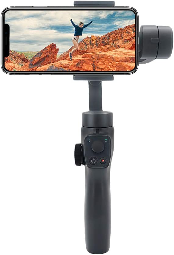 elegantstunning Beyond-Sky Eye-Mind 2 3-Axis FPV Handheld Gimbal Stabilizer for Go-Pro 4//5//6//7 Camera 6.5 Inch Android iOS Smartphone