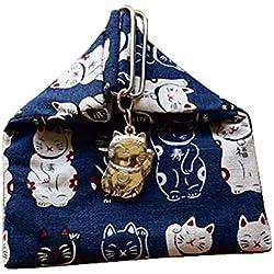 [Gato-7] Monedero estilo japonés Monedero vintage Monedero pequeño