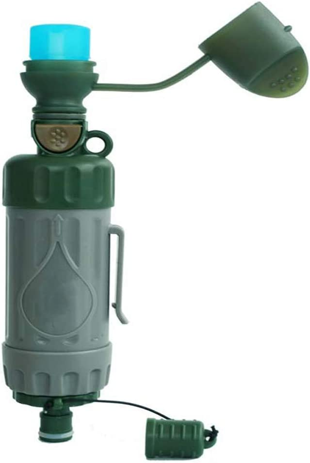 Cacoffay Port/átil Al Aire Libre Agua Filtrar con Pelota Bomba R/ápido Bebida Integrado Dise/ño Multifunci/ón Mini Agua Purificador Emergencia Preparaci/ón
