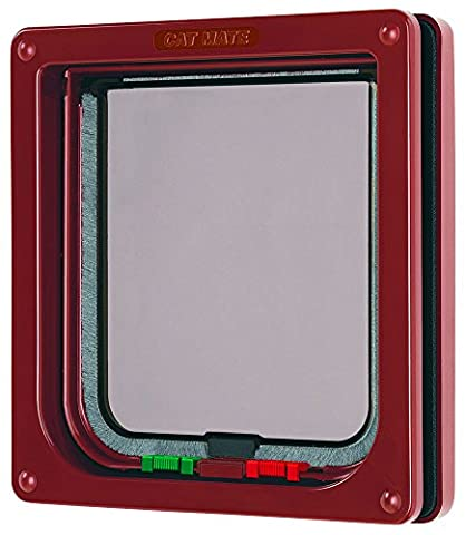 Cat Mate 4 Way Locking Cat Flap, Brown - Cat Flap Per Porte