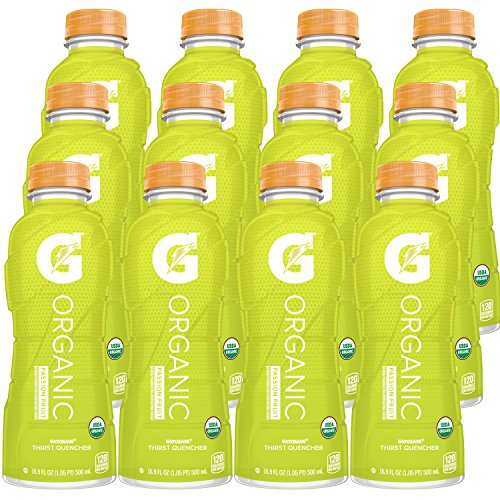 G Organic, Passion Fruit, Gatorade Sports Drink, Organic Hydration, USDA Certified Organic, 16.9 oz. Bottles (Pack of 12) - Lemon Passion Fruit Fruit