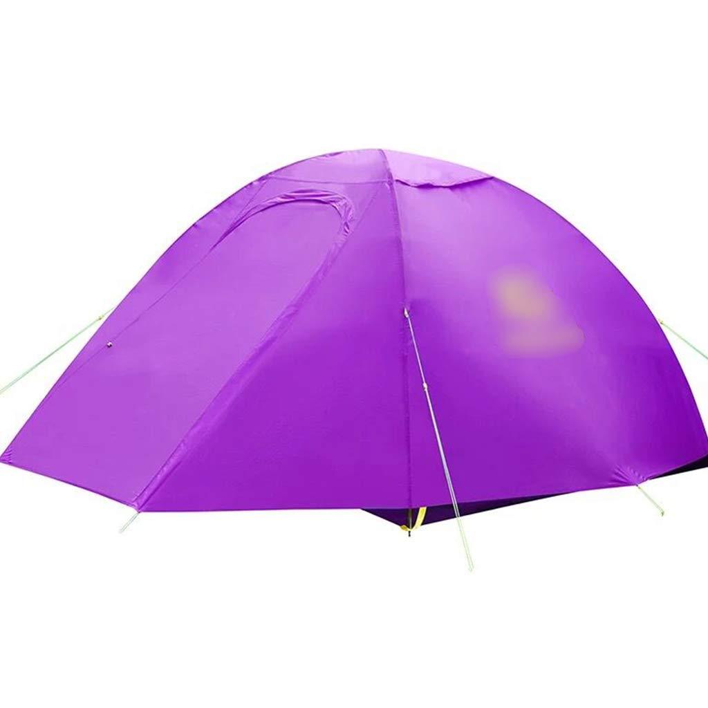 YaNanHome Doppeltes Starkes regendichtes Zelt des Zeltes im Freien 1-2 Leute kampierendes Zeltpaarzelt, Das Zelt wandert (Farbe : lila, Größe : 210  140  110cm)