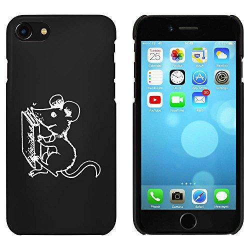 Noir 'Souris avec Livre' étui / housse pour iPhone 7 (MC00071211)