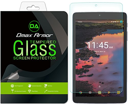 Dmax Armor for Alcatel A30 Tablet 8 Glass Screen Protector, [Tempered Glass] 0.3mm 9H Hardness, Anti-Scratch, Anti-Fingerprint, Bubble Free, Ultra-Clear