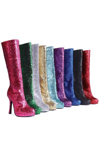 Satin High Heel Adult Boots - Ellie Shoes Sexy Disco Glam Knee High 4