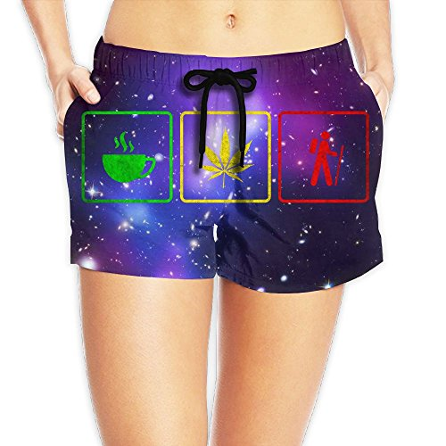Junsung Caffeine Cannabis Hiking Hot Summer Beach Womens Beach Pants