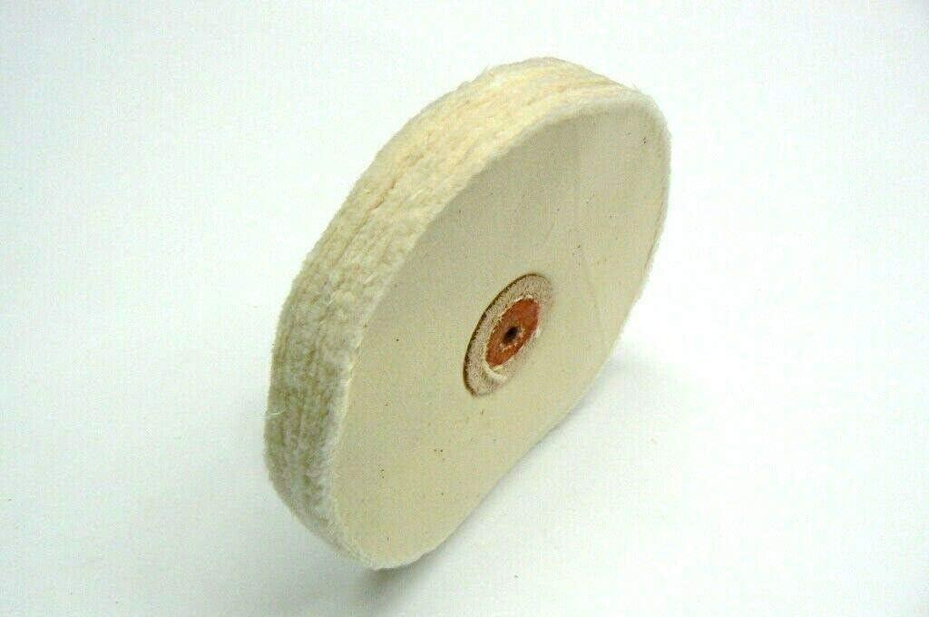 """7/"""" x 30 ply Shellac center PINHOLE White Stitched MUSLIN polishing buffing wheel"""