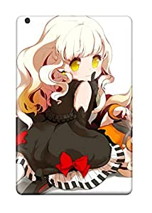 Ipad Mini/mini 2 Case Bumper Tpu Skin Cover For Blondes Vocaloid Gloves Dress Blue Tearsshoes Blush Earrings Lying Down Sitting Open Mouth Fangs Bracelets Crying Ahoge Seeu White Mayu Vocaloid Bare Shoulders Accessories