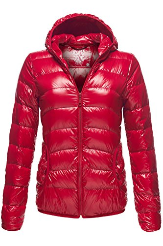 Ultra Light Packable Basic Down Coat Parka Hoodie Jackets, 033-Fire Brick, Large