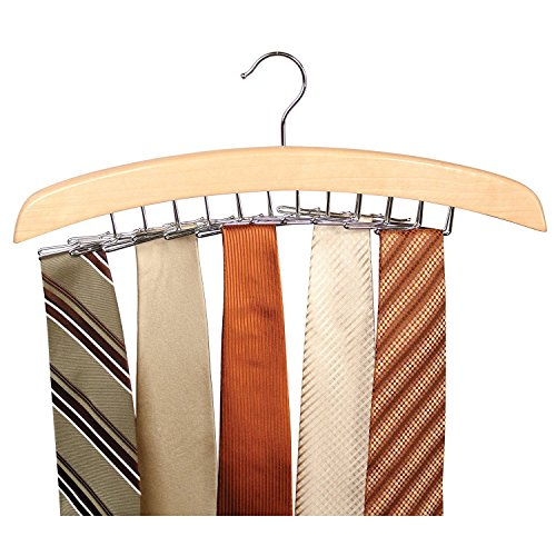 Andrews Chrome Rod - Richards Tie Hanger holds 24 ties