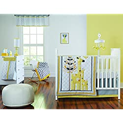 Happy Chic Baby by Jonathan Adler Safari Giraffe 4 Piece Crib Bedding Set