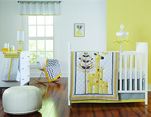 (Happy Chic Baby by Jonathan Adler Safari Giraffe 4 Piece Crib Bedding Set)