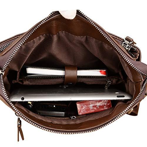 En documents Homme Pour Messenger Sac Hommes Porte ns Vertical Bag Cuir Noir Petit Décontracté Liuxinda À Bandoulière Classique Souple Fq067KWO