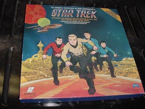 Laserdisc 6 Disc Set Star Trek The Animated Adventures of Gene Roddenberry's Star Trek Complete Series 23 Episodes 1973 & 1974 Featuring the Voices of William Shatner and Leonard Nimoy.