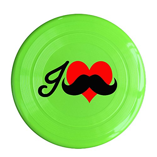 Kim Lennon I Love Mustache Custom Leisure Plastic Sport Disc Colors And Styles Vary KellyGreen Size One - Doll Love Swift Taylor