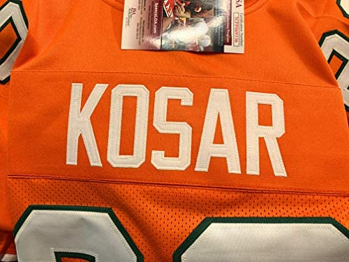 9d18ffeae Bernie Kosar Miami Hurricanes Signed Autograph Orange Custom Jersey JSA  Witnessed Certified. Loading Images.
