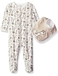 Boys' Footie and Bib Set, Safari