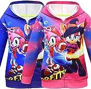 shumintaojin Girls Clothing Fashion Hoodies Sweatshirts Sonic The Hedgehog Big Kids' Jacket Hooded Sweatsh