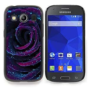 Stuss Case / Funda Carcasa protectora - Rose Gotas de rocío floral de la flor púrpura - Samsung Galaxy Ace Style LTE/ G357
