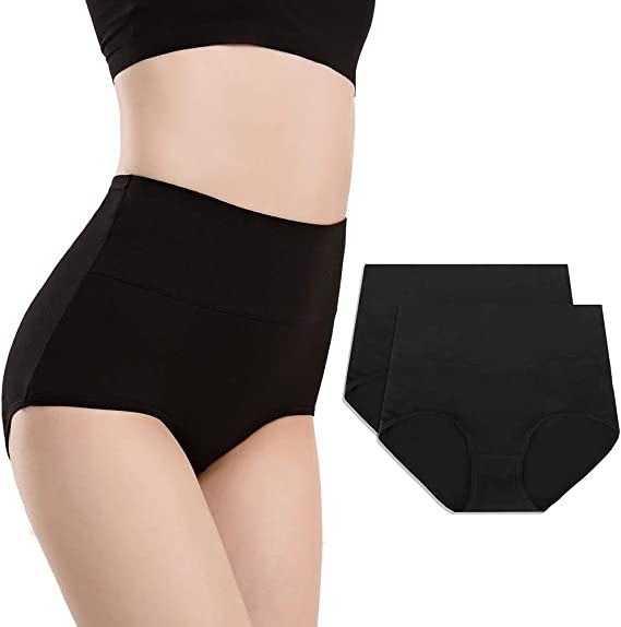 Women/'s High Waisted Cotton Underwear Soft Brief Panties Multipack Easy Wear