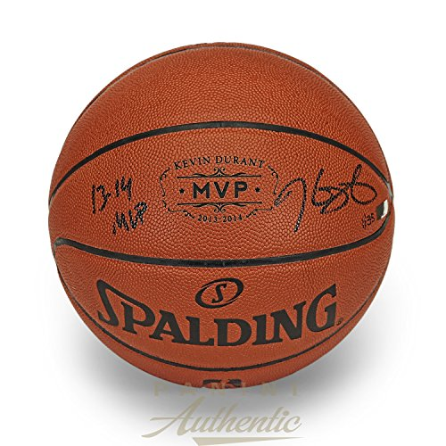 Kevin Durant Autographed 2013-14 MVP Stamped Replica Basketball with