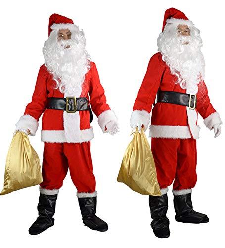 Halco Holidays Men's Completede Santa Suit Costume, X-Large -