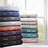 Madison Park 800GSM 100% Cotton Luxury Turkish Bathroom Towels, Highly Absorbent Long Oversized Linen Cotton Bath Towel Set, 8-Piece Include 2 Bath Towels, 2 Hand Towels & 4 Wash Towels, Cream