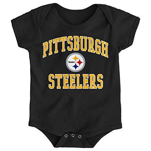 Nfl Pittsburgh Steelers Clothing - NFL Pittsburgh Steelers Newborn & Infant City Wide Short Sleeve Bodysuit Black, 18 Months