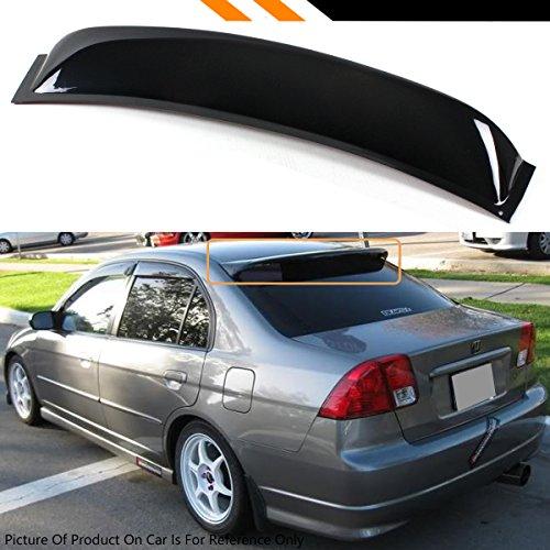 Cuztom Tuning JDM Smoke Rear Window Visor Deflector Fits for 2001-2005 ES1 ES2 Honda Civic 4 Door Sedan
