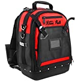 XtremepowerUS Heavy Duty Tools Backpack with 36 Pockets Organizer Bag and Padded Back