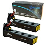Genuine Contixo Rechargeable LiPo Battery - 7.4V 2100mAh LiPo Battery Contixo F18 Quadcopter Drone (2-Pack)