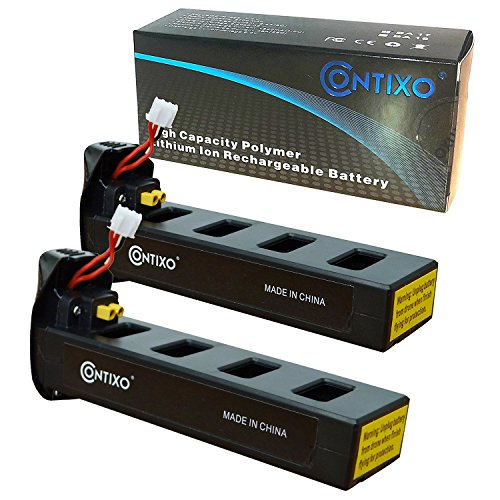 Genuine Contixo Rechargeable LiPo Battery - 7.4V 2100mAh LiPo Battery for Contixo F18 Quadcopter Drone (2-Pack) (Lipo Battery High Performance)